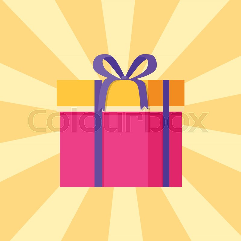 800x800 Parcel Package Icon In Decorative Pink Wrapping Paper Decorated By