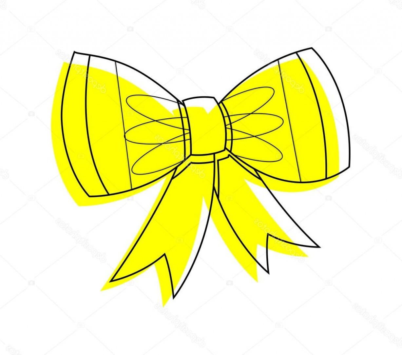 1227x1083 Stock Illustration Yellow Ribbon Bow Vector Clipart Lazttweet
