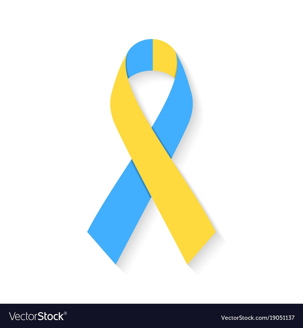 1000x1080 World Down Syndrome Day Blue And Yellow Ribbon Vector 19051137 16