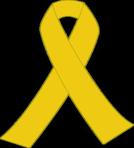 273x300 Yellow Ribbon With Border Clip Art