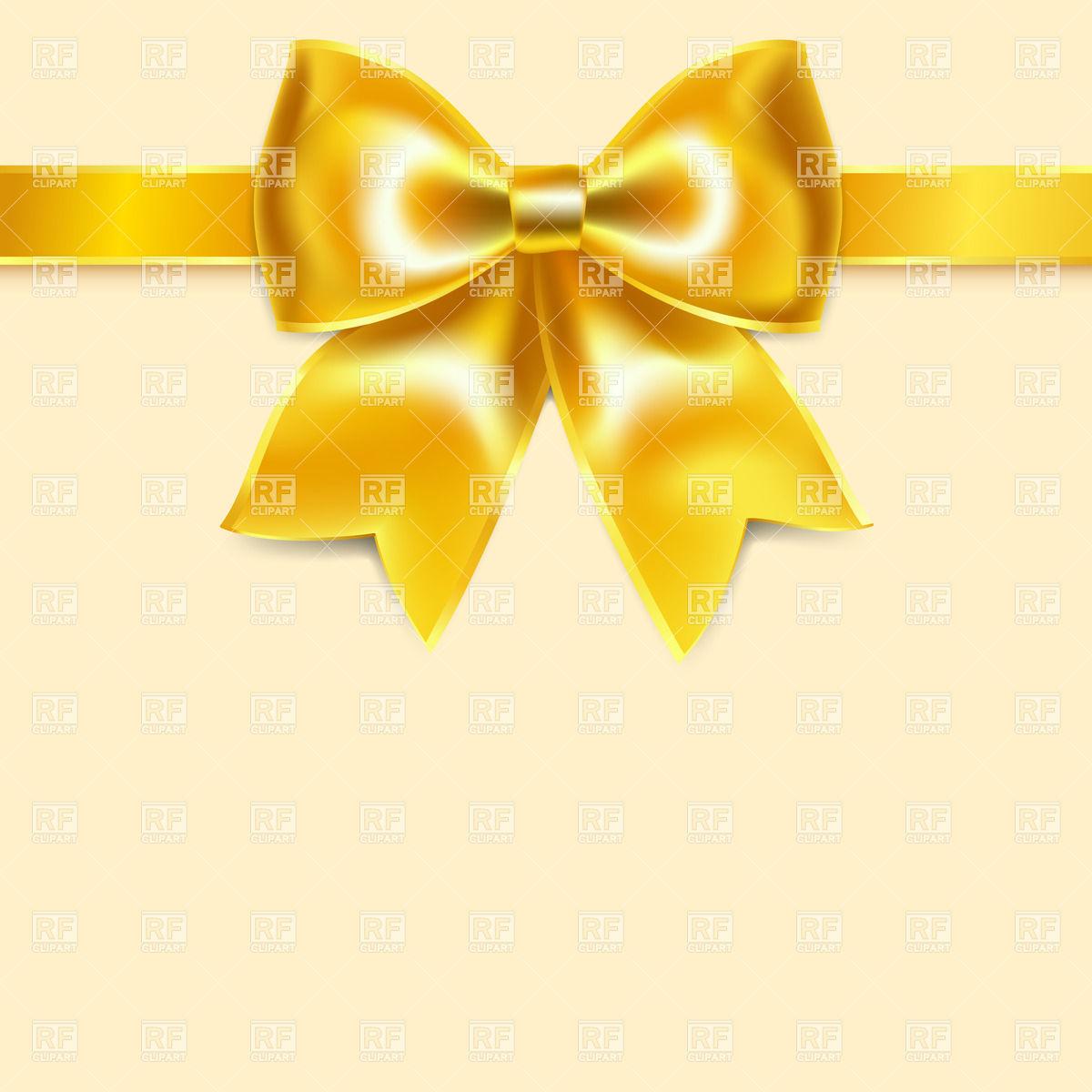 1200x1200 Yellow Festive Bow Of Silk Ribbon Vector Image Vector Artwork Of