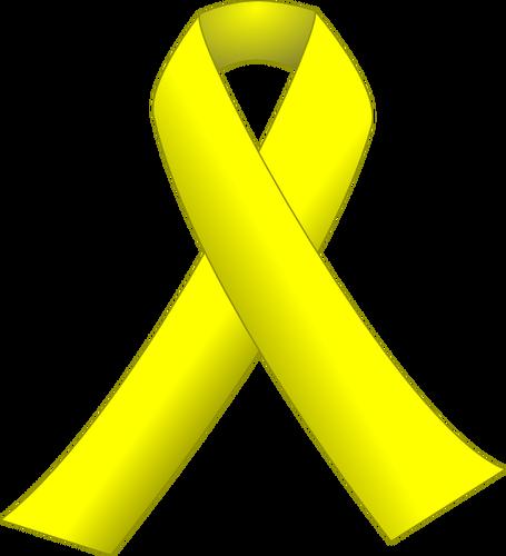 455x500 Yellow Ribbon Vector Illustration Public Domain Vectors