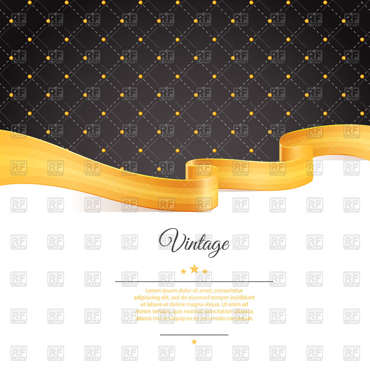 1200x1198 Blank Template Of Invitation Or Greeting Card With Wavy Yellow