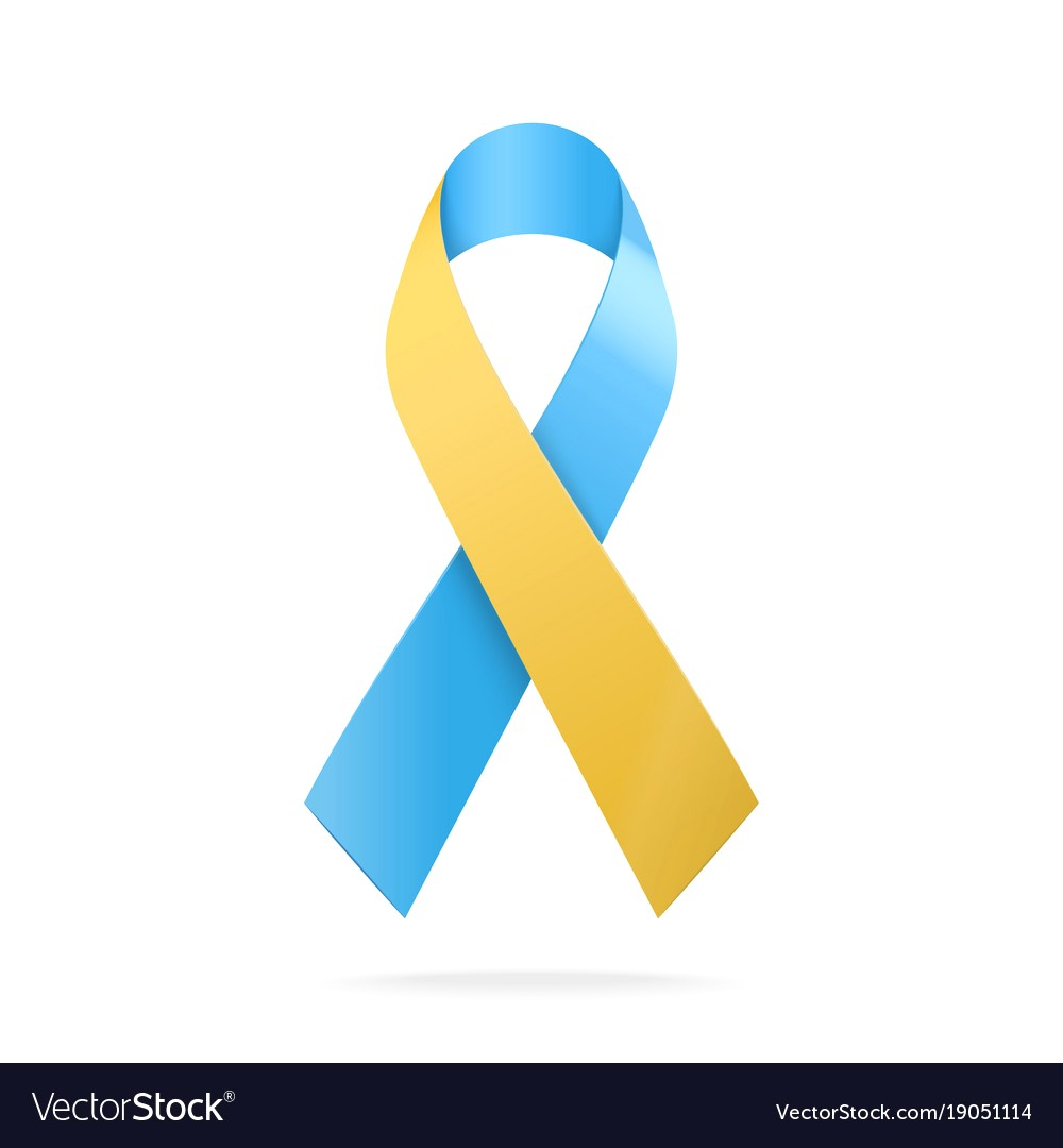 1000x1080 Blue And Yellow Ribbon World Down Syndrome Day Vector Id916081510