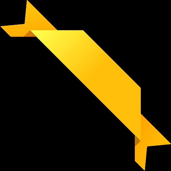 600x600 Corner Ribbon03 Yellow Vector Data Svg(Vector)public Domain