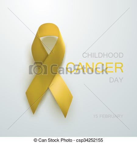 450x470 Childhood Cancer Awareness Yellow Ribbon. Childhood Cancer Day