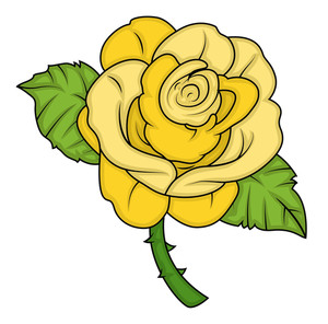 300x296 Yellow Rose Vector Royalty Free Stock Image