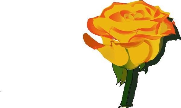 600x357 Yellow Rose Clip Art Free Vector 4vector