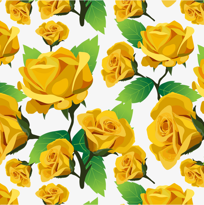 650x654 Fine Yellow Rose Pattern, Rose Clipart, Vector Png, Roses Png And