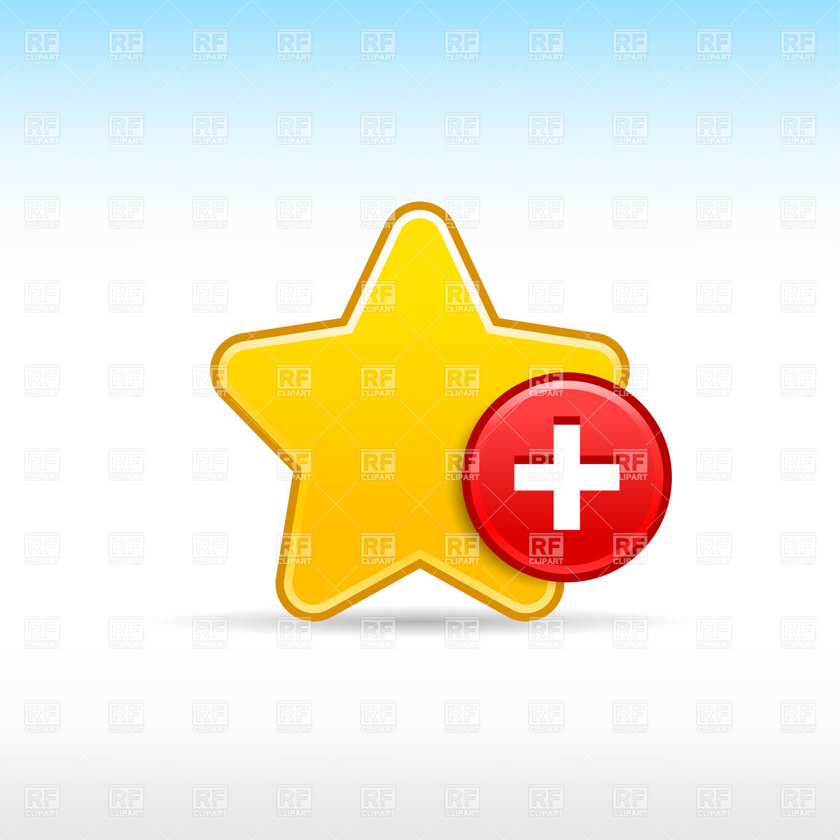 1200x1200 Yellow Star With Plus