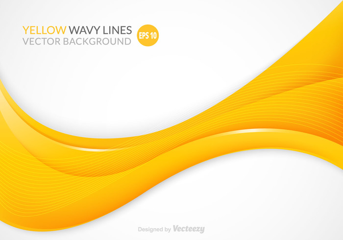 700x490 Free Yellow Wavy Vector Background 144572
