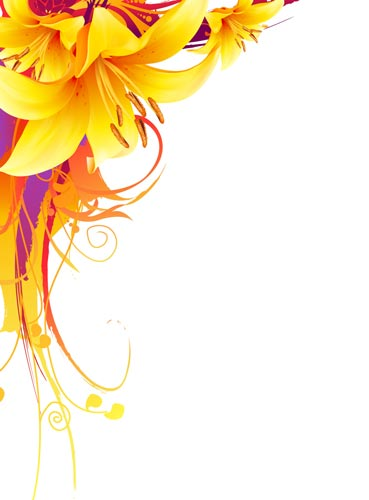 369x500 Yellow Lily Vector Flower Design