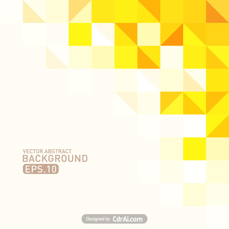 750x750 Yellow Polygonal Background Vector Free Download