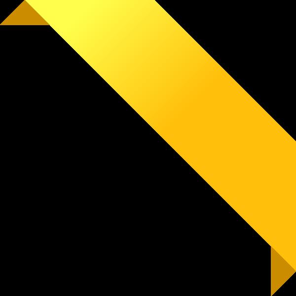 600x600 Corner Ribbon02 Yellow Vector Data Svg(Vector)public Domain