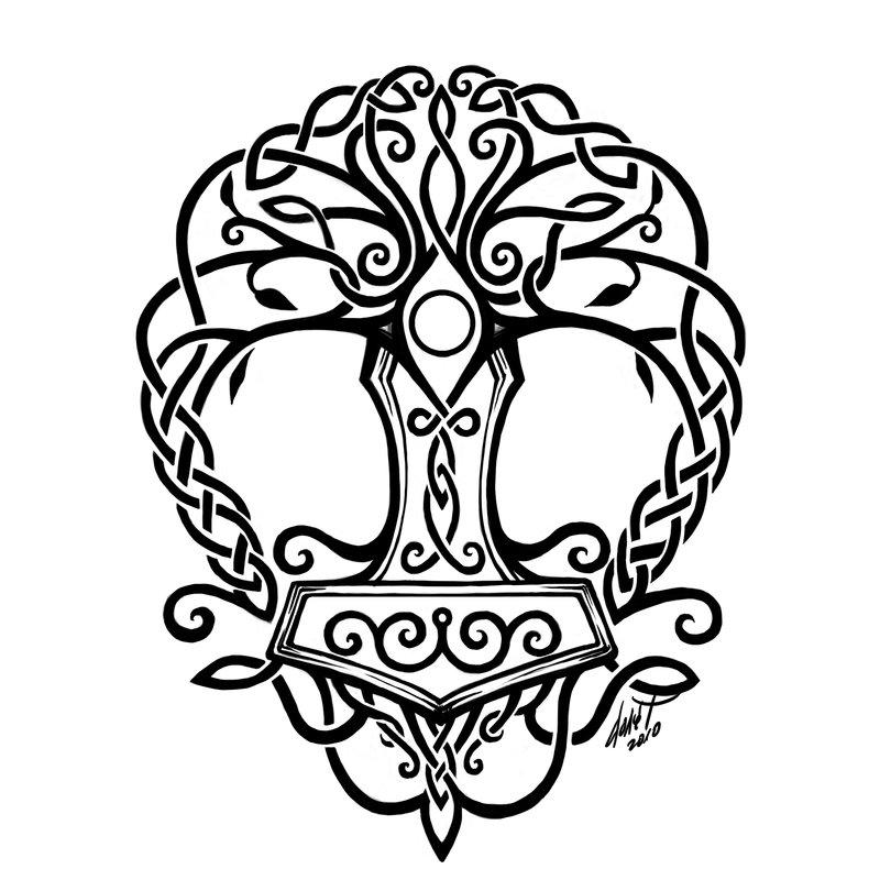 800x800 Download Simple Yggdrasil Tattoo
