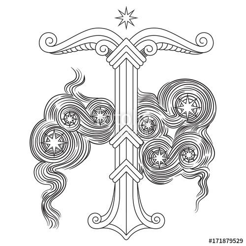500x500 Irminsul, Yggdrasil. Sacred Tree Or The Tree Trunk Saxons