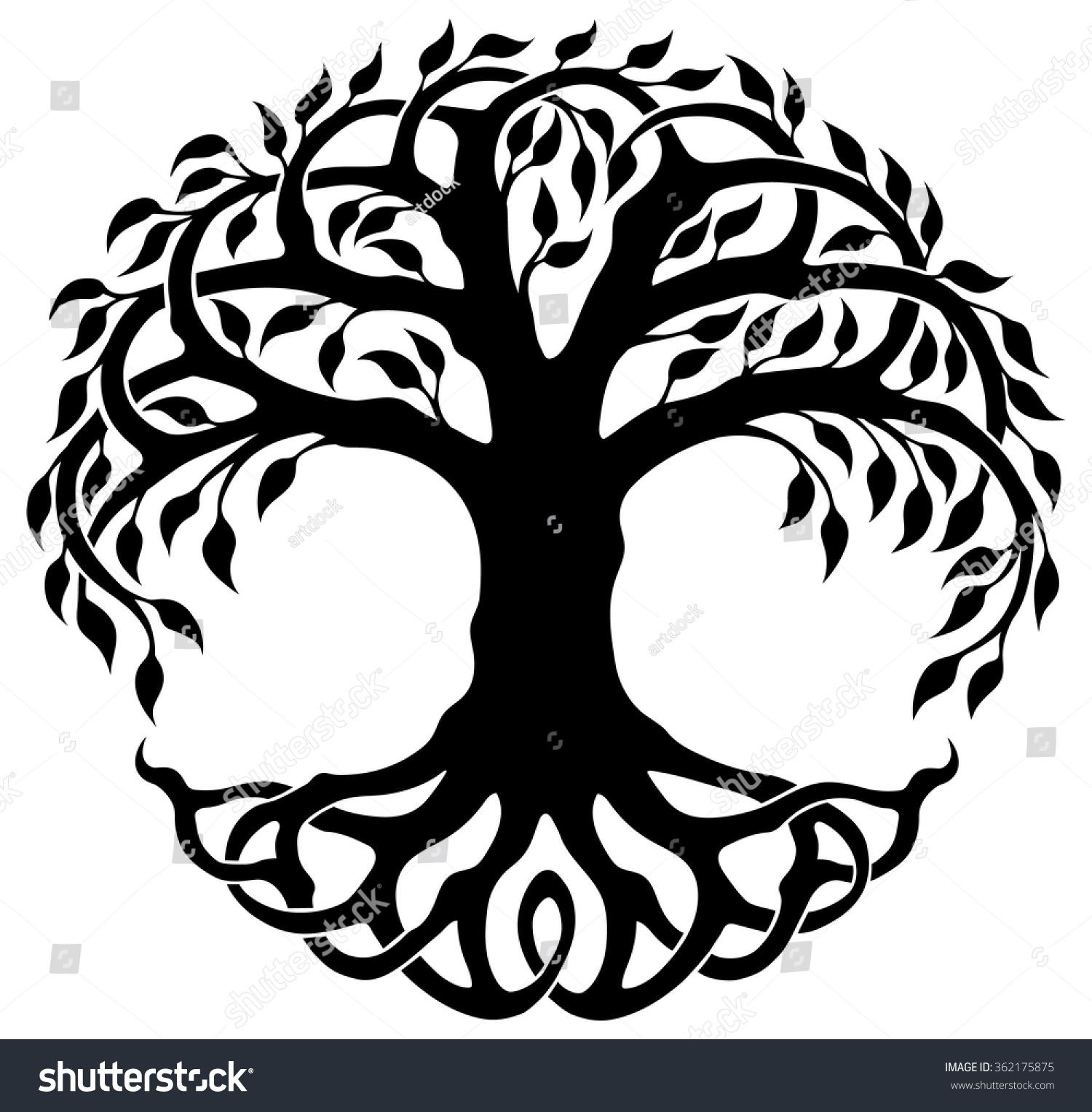 1500x1528 Tree Of Life Yggdrasil World Tree Vector Art Illustration Ideas