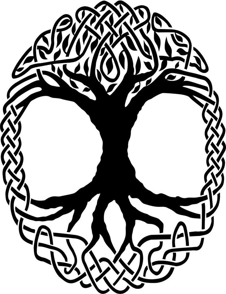 783x1020 Celtic Knot Tree Vector