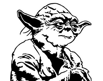 340x270 Yoda Png Black And White Transparent Yoda Black And White.png