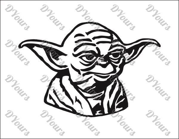 600x466 Yoda Star Wars Vector Model Svg Cdr Ai Pdf Eps Files Etsy
