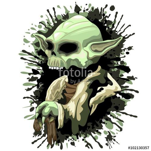 500x500 Skull Yoda Jedi Master Stock Image And Royalty Free Vector Files
