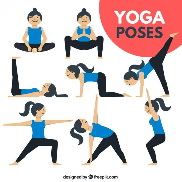 626x626 Nice Woman Doing Yoga Poses Vector Free Download