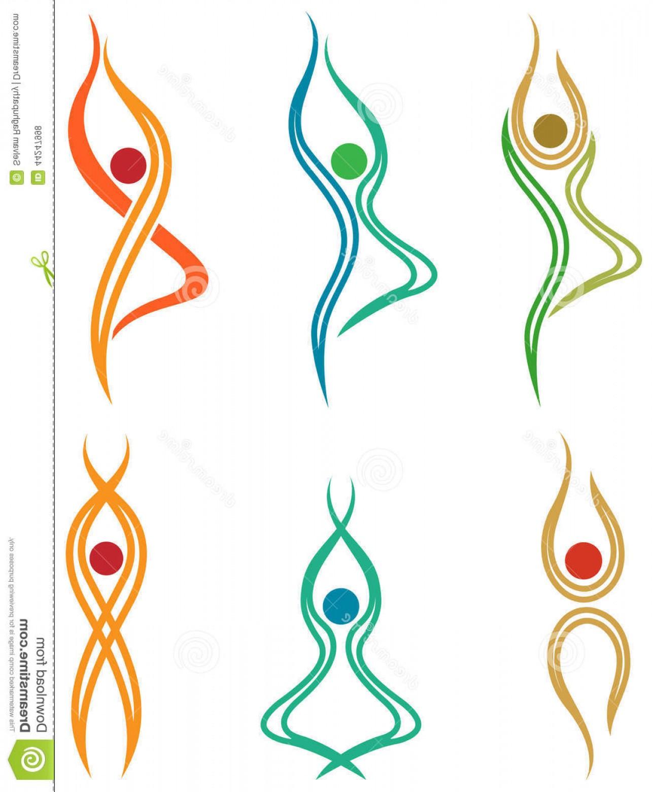 1287x1560 Stock Illustration Abstract Yoga Symbols Line Art Symbol Set