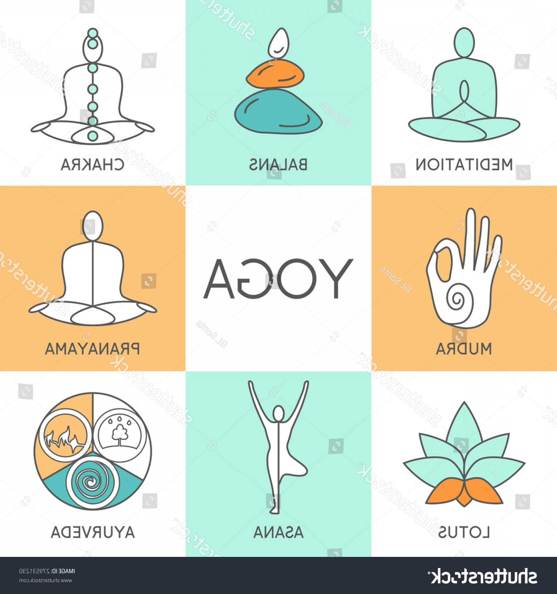 1800x1920 Vector Yoga Illustration Set Linear Icons Arenawp