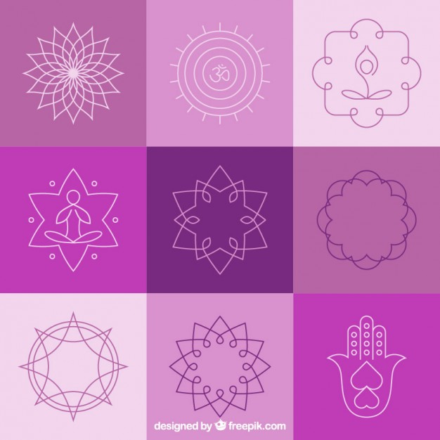 626x626 Yoga Abstract Badges And Symbols Vector Free Download