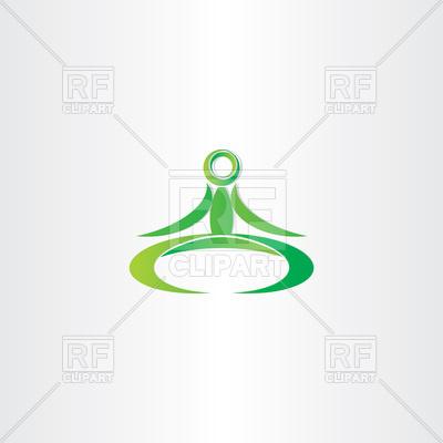 400x400 Green Yoga Man Icon Vector Image Vector Artwork Of Healthcare