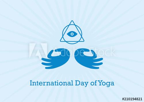 500x354 International Day Of Yoga Vector. Yoga Hand Mudra Illustration