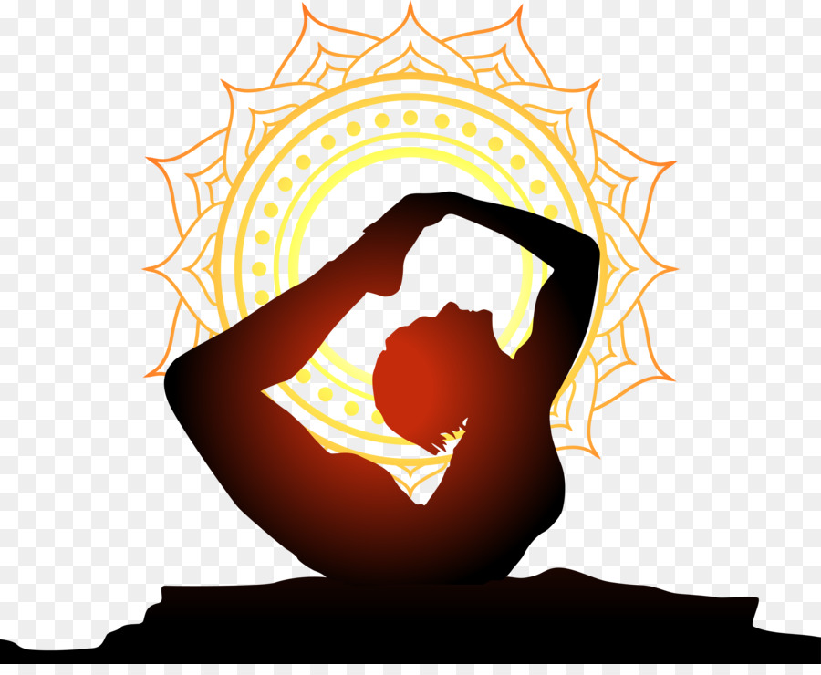 900x740 Yoga Physical Exercise Wall Decal Sunset