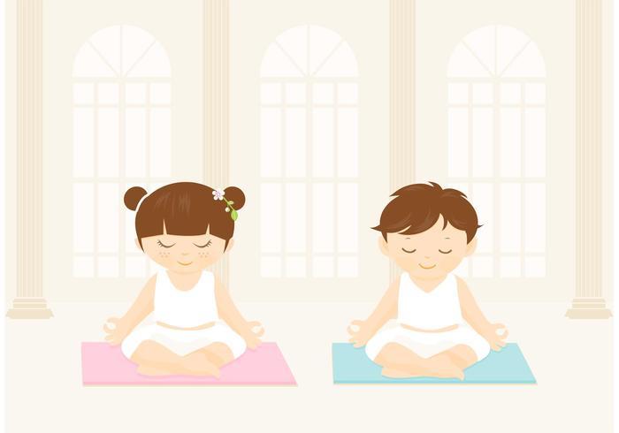 700x490 Free Children Practices Yoga Vector