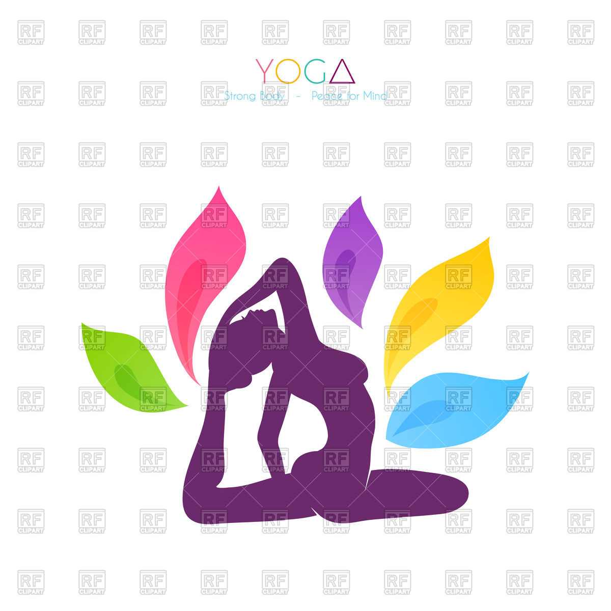 1200x1200 Silhouette Of Woman Doing Yoga Vector Image Vector Artwork Of