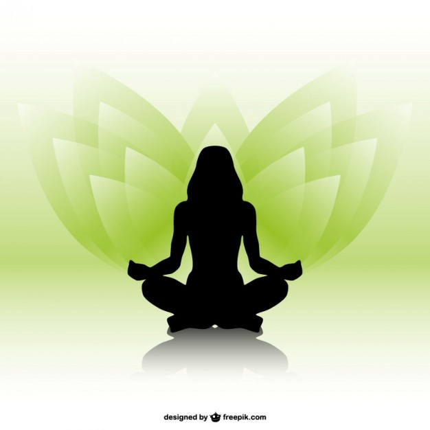 626x626 Woman Silhouette Vector Yoga Vector Free Vector Download In .ai