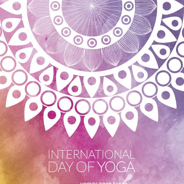 602x602 Yoga Day Mandala Design Free Vector Download 372313 Cannypic