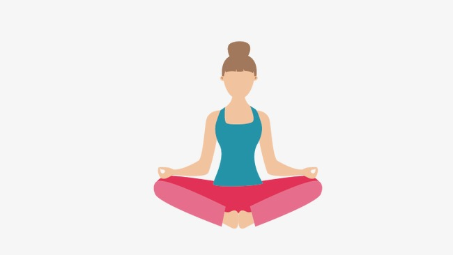 650x366 Yoga Girl, Yoga Vector, Girl Vector Png And Vector For Free Download
