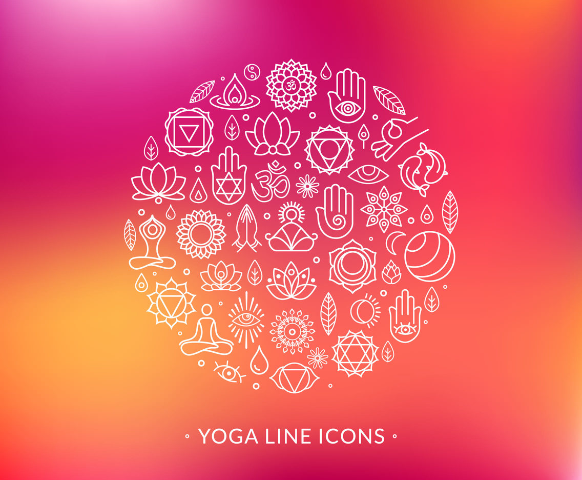 1136x936 Line Yoga Vector Icons Vector Art Amp Graphics