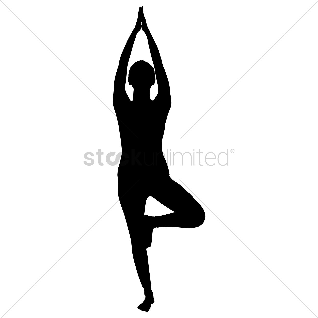 1300x1300 Silhouette Of A Woman Practicing Yoga Vector Image