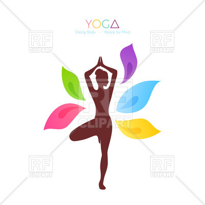 400x400 Silhouette Of Woman Doing Yoga Vector Image Vector Artwork Of