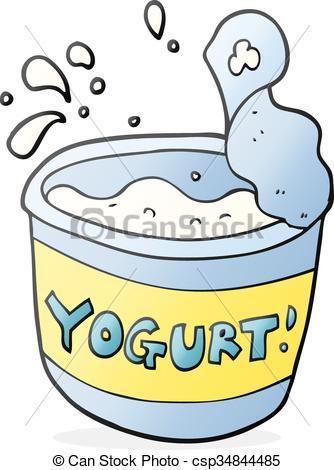 334x470 Freehand Drawn Cartoon Yogurt.