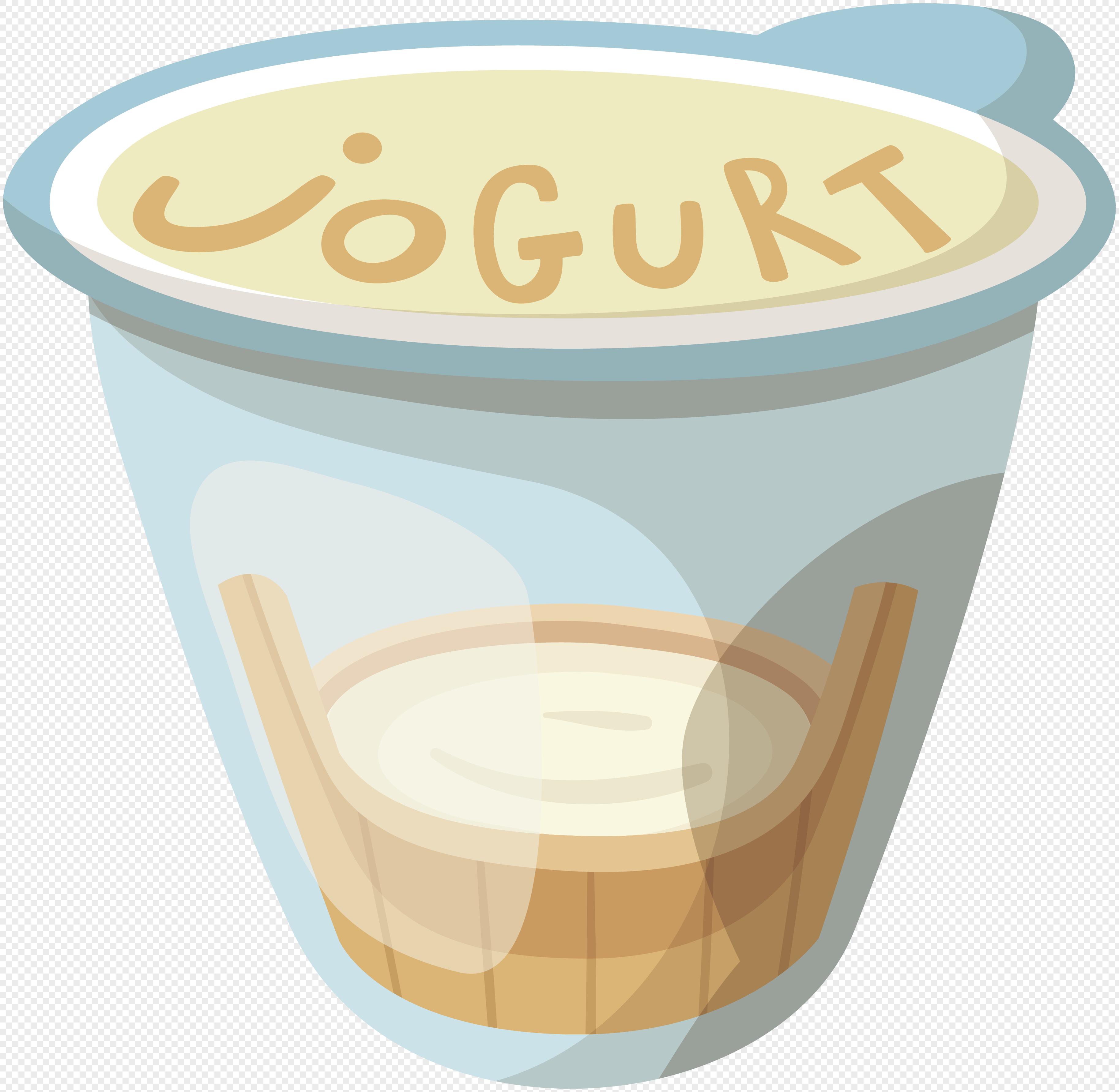 3654x3567 Hand Drawn Cartoon Food Ingredients Yogurt Vector Elements Png