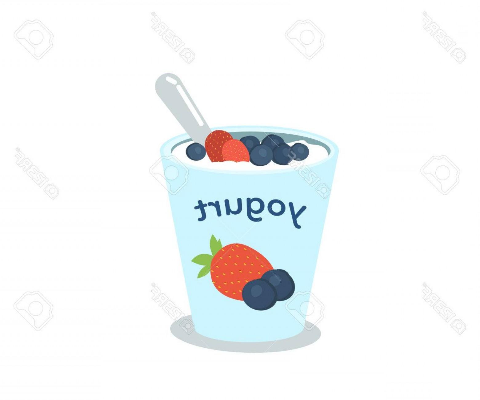 1560x1299 Photostock Vector Yogurt Cup With Berries Vector Illustration