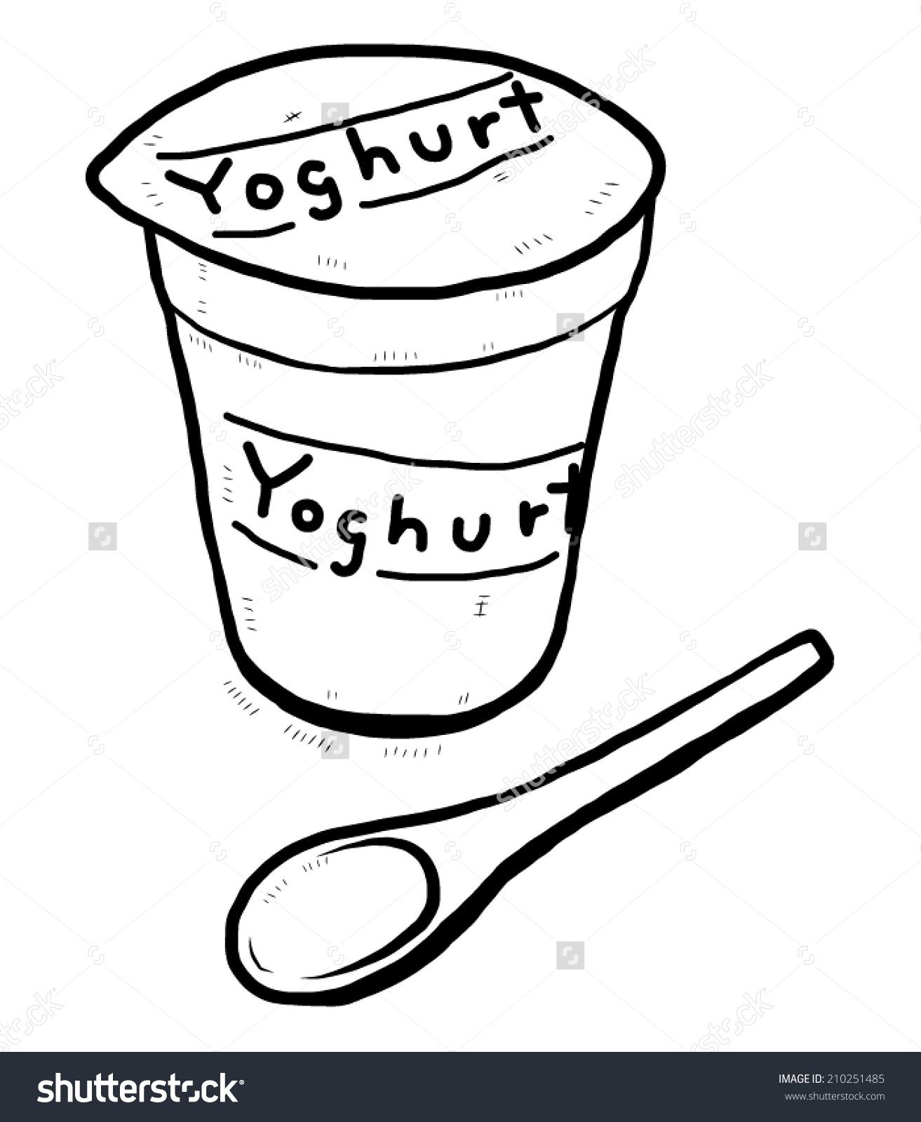 1313x1600 Collection Of Yogurt Cartoon Drawing High Quality, Free