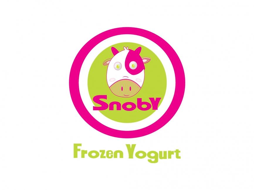 866x650 Snoby Frozen Yogurt Vector Logo