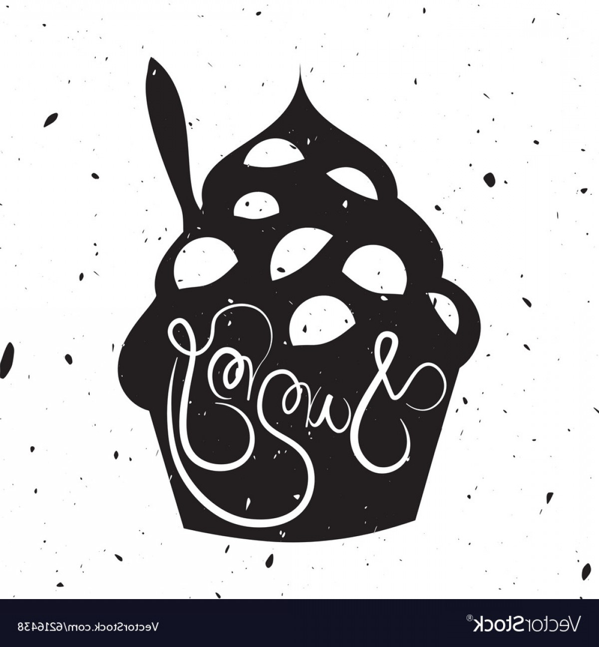 1200x1296 Vintage Style Card With Frozen Yogurt Vector Arenawp