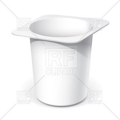 400x400 White Plastic Container For Yogurt Vector Image Vector Artwork