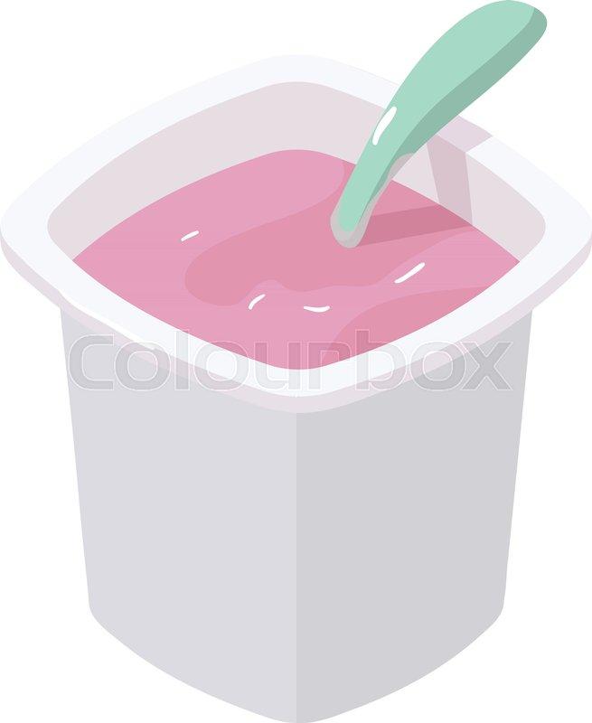 655x800 Yogurt Icon. Isometric Illustration Of Yogurt Vector Icon For Web