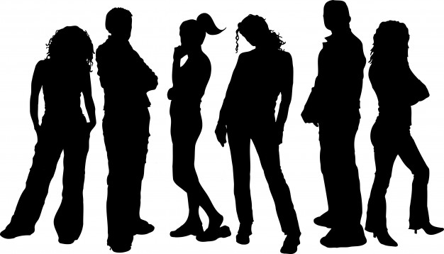626x358 Silhouettes Of Young People Vector Free Download