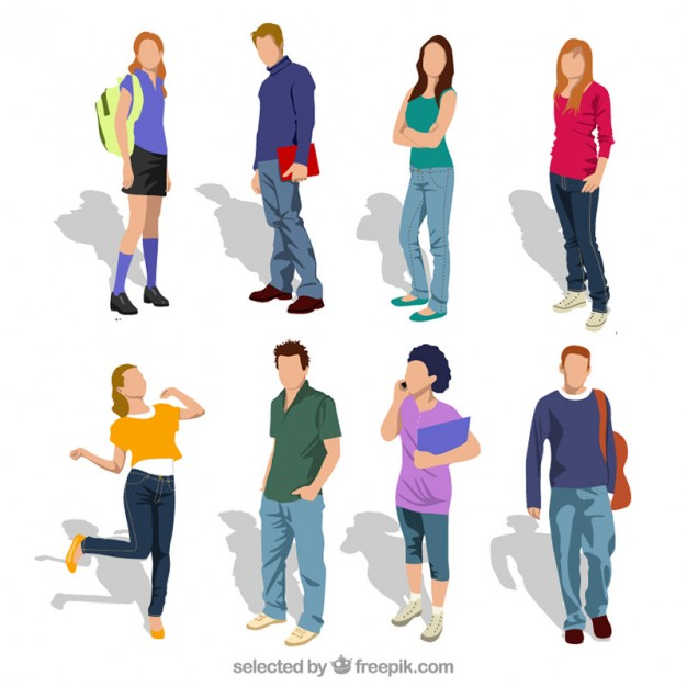 626x626 Vectors Of Young People And Teenagers Free Vector Graphics